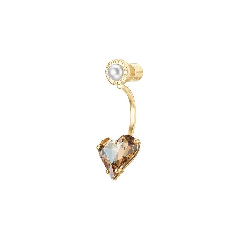 OOAK Heart Crystal Earrings
