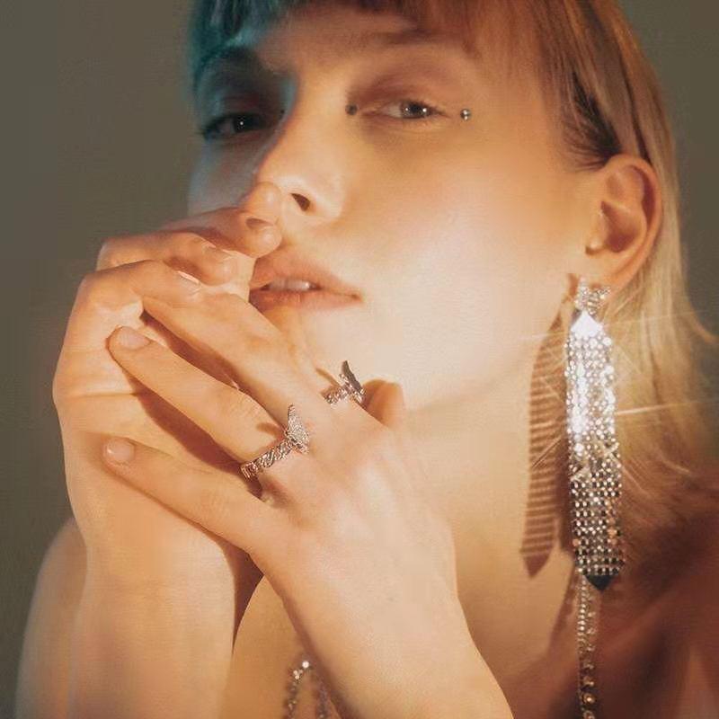 OOAK Silver Butterfly Ring