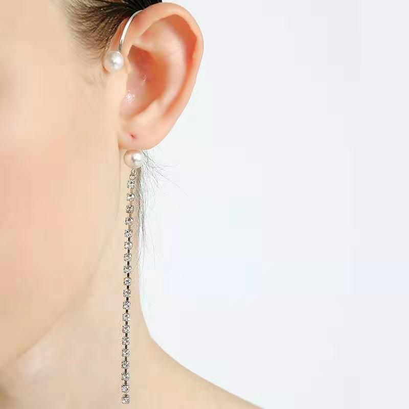 OOAK Loshki Pearl Chain Earrings
