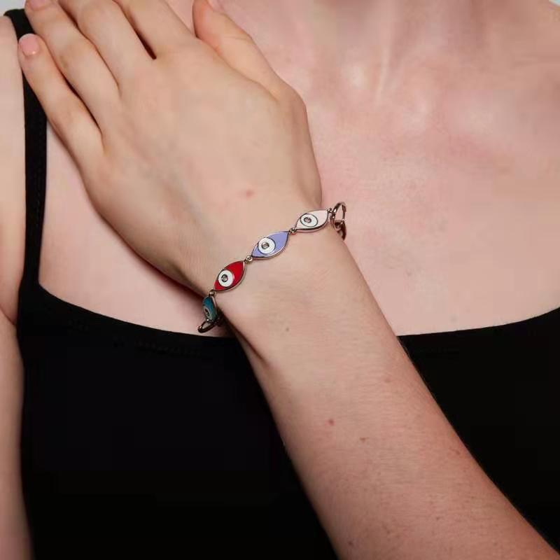 Enamel Eye Bracelets