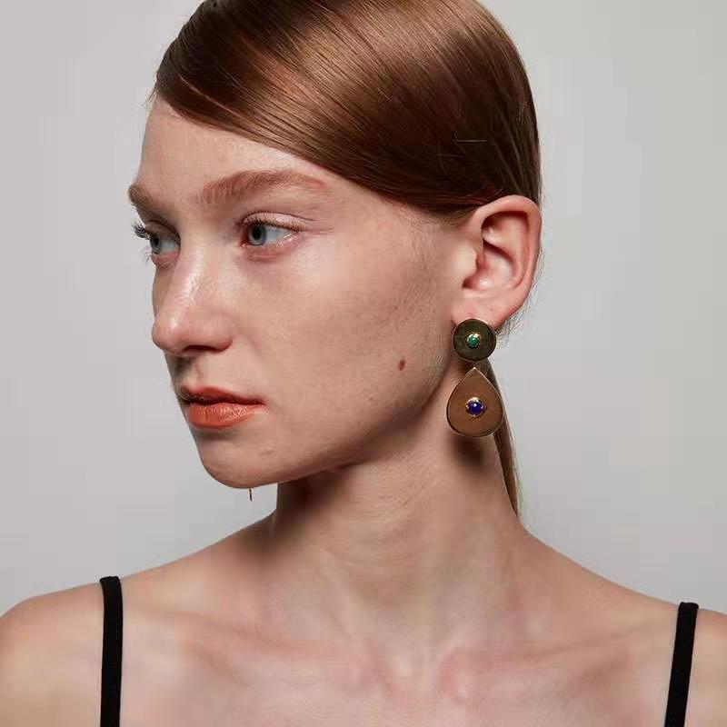 Metallic Gem Earrings