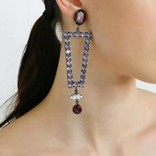 Shiny Crystal Earrings