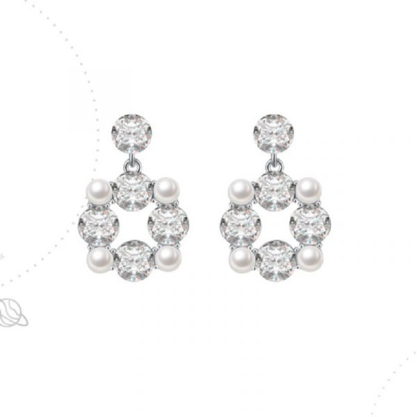 Abyb Gems And Pearl Earrings