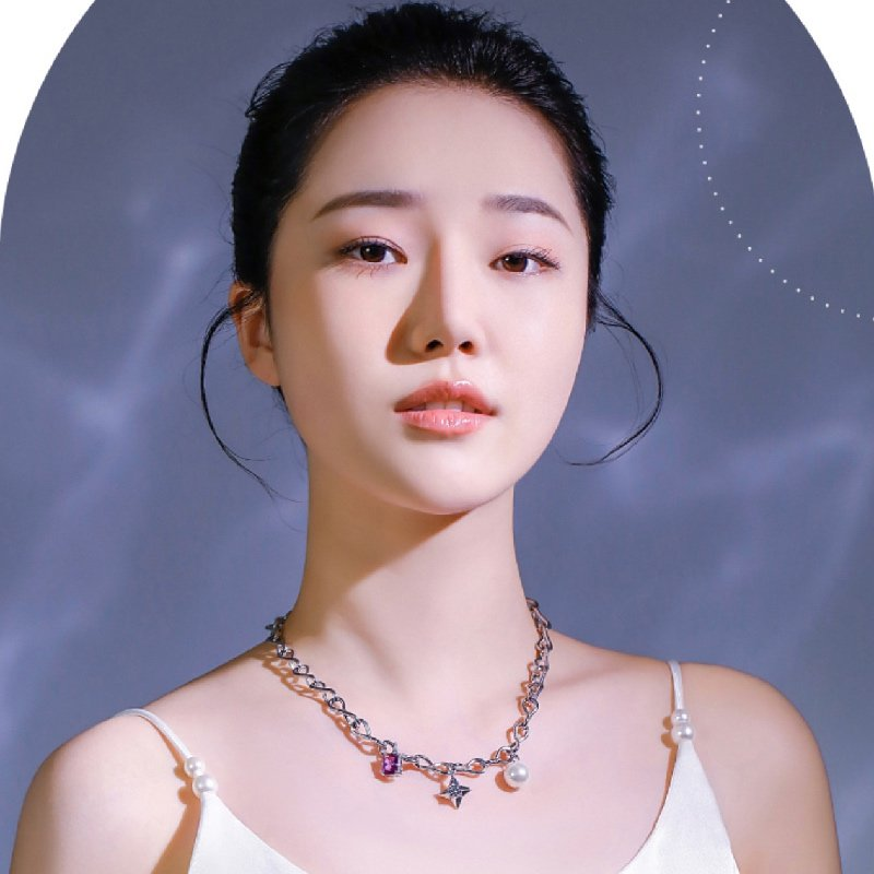 Abyb Girl In Purple Necklace 3