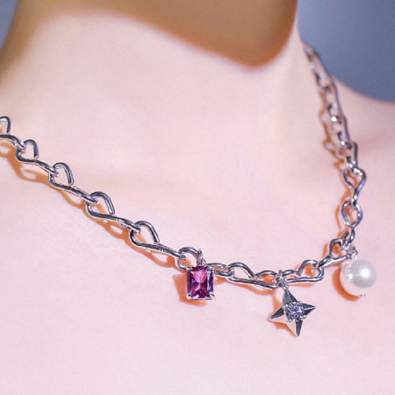 Abyb Girl In Purple Necklace 4