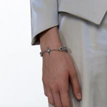 Kvk Cross Pendant Bracelet