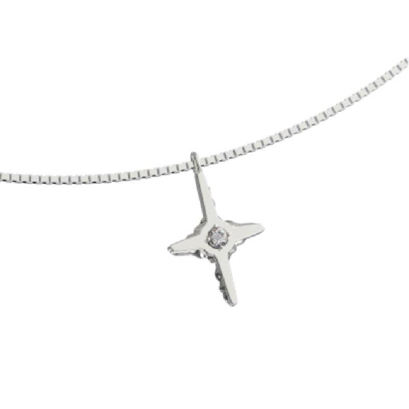 Kvk Diamond Temperament Cross Necklace 4